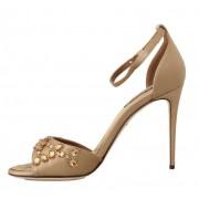 Dolce & Gabbana magassarkú cipő barna