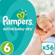 Pampers pelene Active Baby 6 Extra Large, 56 kom