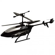 Ruchiez Radio Remote Control Flying Helicopter with Unbreakable Blades for Kids - Black