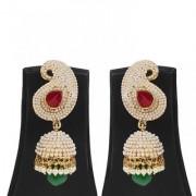 Jewels Gold Alloy Party Wear Wedding Stylish Simple Designer Jhumki Earring Set For Women Girls