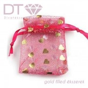 Golden Hearts organza tasak