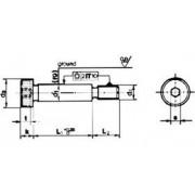 imbus M8x55 BEZ PÚ 12.9 pr 10 tol. f9 lícovaný ISO 7379