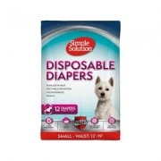 Simple Solution Original Disposable Diapers, 12 count, Small