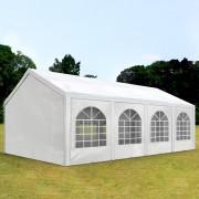 TOOLPORT Partytent 4x8m PE 240g/m² wit waterdicht Gartenzelt, Festzelt, Pavillon