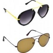 Hrinkar Clubmaster Sunglasses(Grey, Brown)