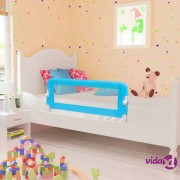 vidaXL Sigurnosna ograda za dječji krevetić 102 x 42 cm plava