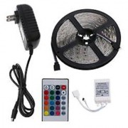 Multicolor Waterproof 5m 300 LED SMD RGB Strip Light Remote DC 12V