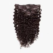 Rapunzel® Extensions Naturali Kit Clip-on Original 7 pezzi Ricci 2.2 Coffee Brown 40 cm