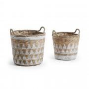 Kave Home Conjunto Mast de 2 cestas b , en Fibra natural - Natural