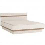 Tempo Kondela, Posteľ 160, biela extra vysoký lesk HG/dub sonoma tmavý truflový, na objednávku, LYNATET TYP 94