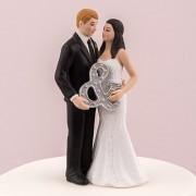 Figurina tort Mr&Mrs cod F443