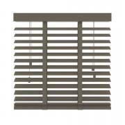 Horizontale jaloezie hout 50 mm - taupe - 100x220 cm - Leen Bakker