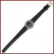 Stříbrné hodinky s českým granátem (Originál Granát Turnov)
