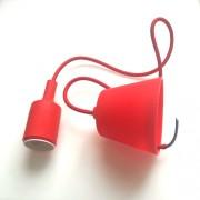 LED lámpa függeszték , E27 , piros