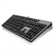 Tastatura A4 TECH KD-300 Slim USB US crna