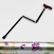 Homecraft Canne de marche pliante motif fleuri - poignée Derby - Petite