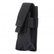 M5 multifunctionele Outdoor Sport Mini Draagbare zaklamp beschermkap / zak maat: 15 x 4.7 x 2 cm(Black)