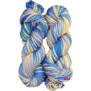 M.G Multi Blue Berry 300 gm hand knitting Soft Acrylic yarn hank wool thread for Art & craft Crochet and needle