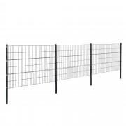 [pro.tec]® Panelový systém se sloupky - antracit - 6 x 1,2 m