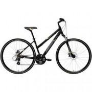 Merida Bicicleta Merida Crossway 15 MD - Aro 700 - Freio a Disco Mecânico - Quadro 50cm - 24 Marchas - PRETO/AMARELO