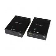 StarTech.com Extensor HDMI por Cat5 HDBaseT con Concentrador USB e IR, 90 Metros