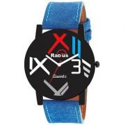 Radius Quartz Analog Blue Strap Round Dial Men's Watch