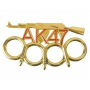 Prijam Punch Ak-47 Style Golden Knuckle Punch Show Pies Blade Size 11 (cm)