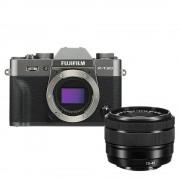 Fujifilm X-T30 Aparat Foto Mirrorless Kit cu Obiectiv 15-45mm Charcoal Silver