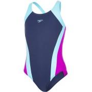 speedo Contrast Panel Splashback Swimsuit Girls navy/turquoise/diva 140 US 28 2019 Badkläder