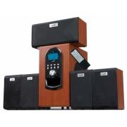 "BOXE 5.1 GENIUS ""SW-HF5.1 6000"", RMS: 20Wx5 + 100Wx1, cherry wood, telecomanda ""31730022101"" 870204 001 001 (include timbru verde 1 leu)"