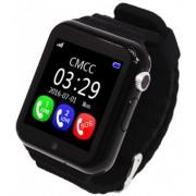 "Smartwatch iUni V8K, 1.54"", GPS, Bratara silicon (Negru)"
