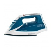 Black & Decker Plancha Even Steam IR2060, Vapor Vertical, 1200W, Suela Cerámica, Azul/Blanco