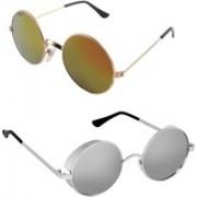 Rich Club Round Sunglasses(Silver, Golden)