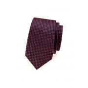 Modrá SLIM kravata červené křižky Avantgard 571-62169