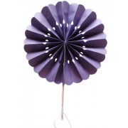 Purple Flower Paper Fans (packs of 10)