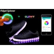 LED tenisky čierne - mobilná aplikácia na zmenu farieb