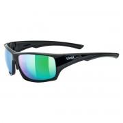 Uvex Occhiale sole Uvex Sportstyle 222 pol (Colore: nero-verde, Taglia: UNI)