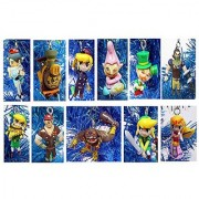 Legend of ZELDA Mini Christmas Tree Ornament Set - Plastic Shatterproof Ornaments Ranging from 1 to 2.5 - Perfect for Office Tree or Kids Tree