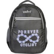 Unity Bags Polyester Multi Pocket Waterproof School Bag | Shoulder Backpacks for Girls & Boys (Black) 35 L Backpack(Grey)