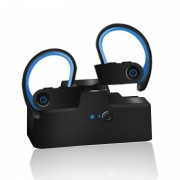 TWS-6 Wireless Bluetooth Ear Hook Earphone In-ear Sports Ear Hook Wireless Headphones Earbuds - Blue