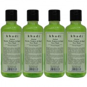 Khadi Herbal Neem Teatree Basil Face Wash - 210ml (Set of 4)