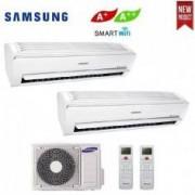 Samsung CLIMATIZZATORE CONDIZIONATORE DUAL SPLIT 9+9 SAMSUNG INVERTER AR6500M 9000+9000 BTU CON AJ040MCJ CLASSE A++ WI FI