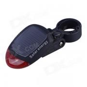 3-Mode 2-LED de Energia Solar Red de bicicletas Luz trasera Advertencia - Negro + Rojo