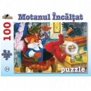 Puzzle 100 piese Motanul Incaltat Noriel