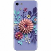 Husa silicon pentru Apple Iphone 7 Flower Artwork