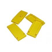 LEGO LEGO TECHNIC Set of 4 Yellow Panels 1 x 5 x 11 + 1x Yellow Head