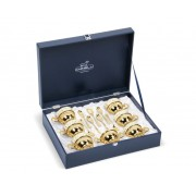 Set Oriental Tea 6 persoane placat cu aur galben by Chinelli made in Italy