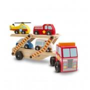 Transportor cu vehicule de urgenta Melissa Doug