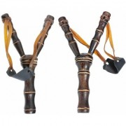 BuzyKart Classic Beautiful Handmade Wooden Toy Slingshot / Catapult / Gulel - Set Of Two