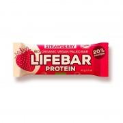 Lifebar baton proteic cu capsuni raw eco 47g